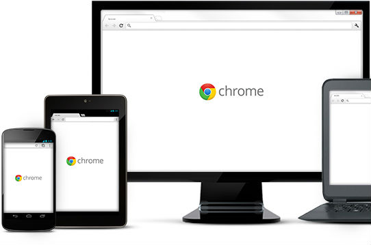 Chrome smartphone, tablet, desktop en laptop