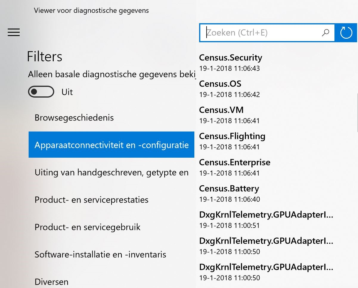 Windows 10-tool geeft inzicht in datavergaring Microsoft - AG Connect
