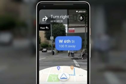 Google Maps AR feature