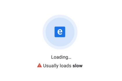 Chrome indicating slow site