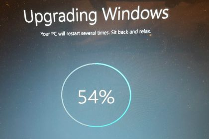 Windows 10-installatie halverwege