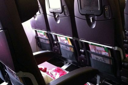 Vliegtuig interieur Virgin Atlantic