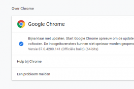 Chrome updaten
