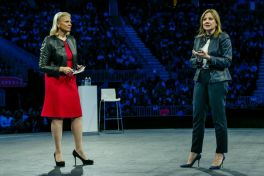 Topvrouwen Rometty van IBM en Barra van GM op de World of Watson